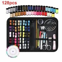128Pcs Sewing Box Portable Sewing Tool Set Needle Thread Embroidery Sewing Kits