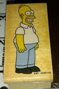 The Simpsons, Homer Simpson, rubber stampede,918,rubber, wood