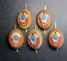 USSR Soviet Russian MVD Uniform POLICE Cap Badge. Cockade.5 Pieces.