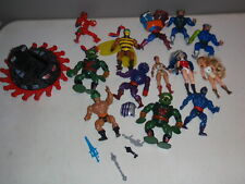 Masters of the Universe MOTU He-Man She Ra Lot of Figures & Parts Vintage Action