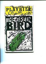 Reg E. Cathey Didi Conn The Green Bird Broadway Cast Signed Autograph Playbill