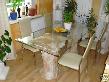 Marmor Glas Esstisch Steintisch Esszimmertisch Tafeltisch antik Küchentisch