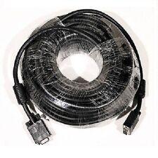 50' ft SVGA VGA 1080P Male-Male 28AWG  Double Shielde Cable Cord+ferrite core PC