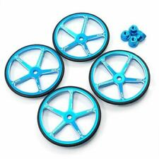 Yeah Racing Aluminium Set Up Wheels for 1:10 M Chassis MTC Blue