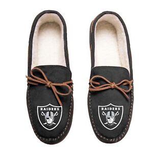 Las Vegas Raiders NFL Team Color Men's Moccasin Slippers