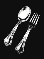 Gorham Chantilly Sterling Silver Baby Fork and Spoon Set Old Marks GIFT QUALITY