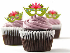 ✿ 24 Edible Rice Paper Cup Cake Toppings, Cake decs - Masks ✿