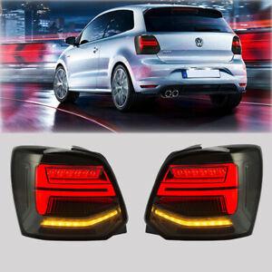 LED Rückleuchten Geräuchert Für 2009-2018 VW Polo 6R 6C Dynamische Heckleuchte