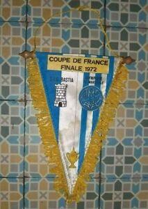 Ancien Fanion Finale Coupe de France 1972 - SEC Bastia / Olympique de Marseille