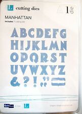 """Manhattan Alphabet & Punctuation Lifestyle Crafts 4x4"""" Thin Metal Die DA0238 NEW"""