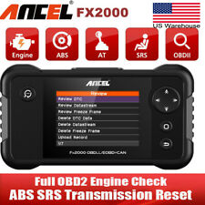Automotive OBD2 Engine Fault Code Reader Scanner Airbag ABS Transmission Scanner