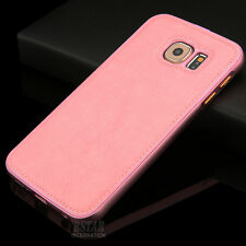 New Luxury Leather Aviation Aluminum Phone Case Cover for Samsung Galaxy S6