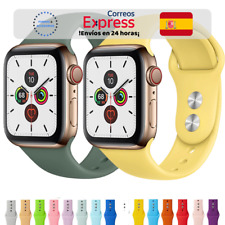 Correa Deportiva Silicona Suave 26 colores - Apple Watch 1/2/3/4/5/6/SE iWatch