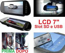 """LCD 7"""" specchio retrovisore touchscreen!Per automobile.Universale.Slot SD,USB,AV"""