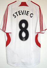 """Liverpool FC 2007/2008 SMALL Away Shirt STEVIE G 8 GERRARD  32"""" 34"""" Adidas 07/09"""
