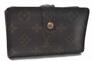Auth Louis Vuitton Monogram Porte Monnaie Billets Viennois M61663 Wallet C2773