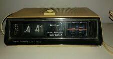 Mid Century Modern Sanyo Flip Style AM/FM Back Lit Alarm Clock Radio RM 5011