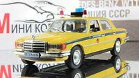 Mercedes-Benz 450 SEL Police of USSR 1972. Diecast Metal model 1:43 Deagostini
