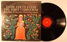 Dame Edith Evans The First Christmas +19 Favorite Xmas Carols LP EX Wonderland