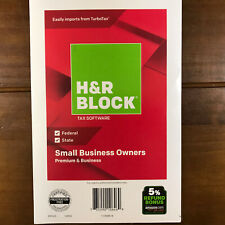 H&R Block Tax Software Small Business Owners 2018 Premium PC CD State Federal