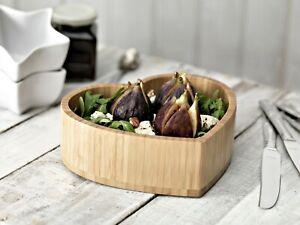 Bamboo Heart Shaped  Salad Dish, Fruit Bowl