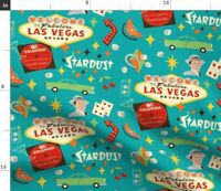 Las Vegas Retro Mid Century Casino Sinatra Fabric Printed by Spoonflower BTY