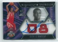 2007-08 SP Rookie Threads Donte Greene DUAL JERSEY RELIC AUTO RC 313/599 ROCKETS