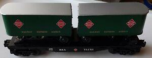 Lionel 6-26065 Railway Express Agency Flatcar With Piggyback Trailers no box