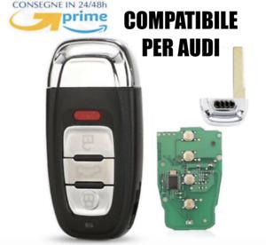 Chiave Telecomando 4T CHIP ELETTRONICA PER AUDI A4 A6 Q5 A8 Q5 ITALIA +LOGO ID46