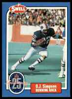 1988 Hall of Fame BLUE #4 O.J. Simpson RARE Buffalo Bills / USC Trojans