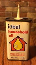 VINTAGE IDEAL HOUSEHOLD OIL CAN CLASSIC CHEMICAL CAMDEN NEW JERSEY MADE IN USA