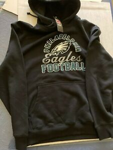 Philadelphia Eagles Men Hoodie Sweatshirt NFL Football Team Apparel Majestic LG