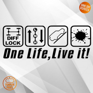 ONE LIFE LIVE IT Sticker DECAL WINDOW BUMPER SHOGUN RANGER LAND ROVER JEEP VINYL