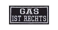 Gas Ist Rechts Patch Aufnäher Badge Biker Heavy Rocker Bügelbild Kutte Motorrad