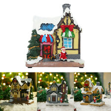 More details for christmas decoration fairy house tabletop outdoor resin ornament gift w/ light