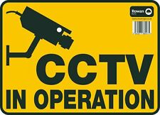 """CCTV In Operation Large Sign Security Accident Purposes Car Van Sticker 9.5""""x13"""""""
