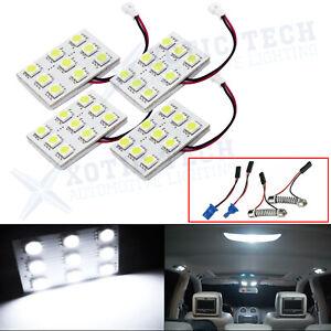 4x 5000k White Map Dome Trunk Interior Light 9 LED Panels for Honda Accord Civic