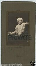 Antique Photo in Folder-Norman-Oklahoma-Cute Smiling Baby-Cap-Truby Photographer