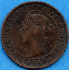 Canada 1897 1 Cent One Large Cent Coin - F/VF