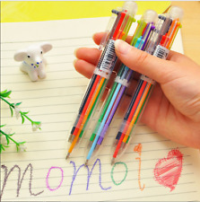 Colorful 6 in 1 Colour Ball Point Pen Writing Ballpen Marker Students New