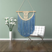Woven Hand Knitted Wall Hanging Tassel Macrame Tapestry Bohemian Boho Chic Decor