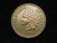 2021 SALE!!  XF 1880 INDIAN HEAD CENT PENNY w/ DIAMONDS & FULL LIBERTY #35w