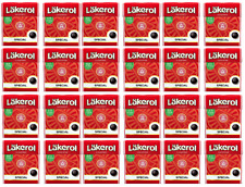 Cloetta Läkerol Special Mint Sugar Free Licorice Pastilles 25g * 24 pack 21oz