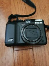Canon PowerShot G10 Digital Camera Black with Leather Case, Battery & Charger