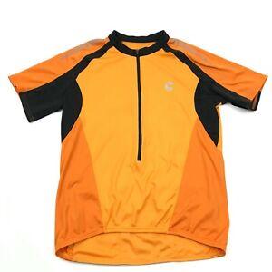 VINTAGE Cannondale Cycle Jersey Size Large L Adult Yellow 1/2 Zip Bike Shirt USA