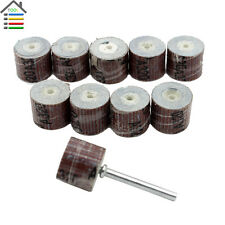 10pc Flap Wheels Sander Disc Replacement Mandrel 320 Grit for Dremel Rotary Tool