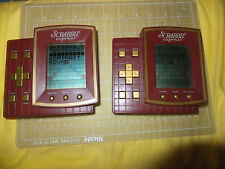 lot of 2 Scrabble Express Handheld Electronic Portable Travel Game Hasbro 1999