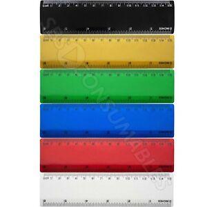 "15cm Coloured Ruler School, College, Study. 6"" Plastic Shatter-Resistant Ruler"