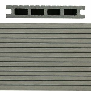 Composite Decking Essesx - Grey - Hollow - 143mm X 23mm X 3.6m