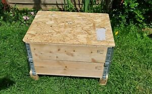 Wood Crate Pallet Collars with lid 600 x800